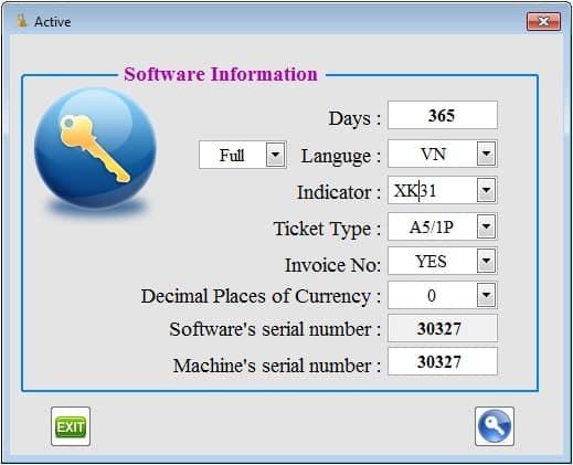 Cài đặt các thông số cho phần mềm