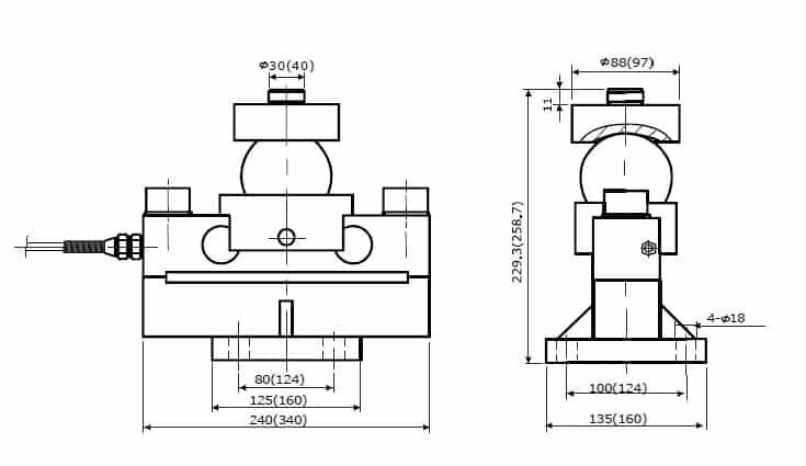 Chiều cao lắp đặt Loadcell Kỹ thuật số VLC-121D